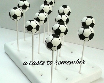 12 Soccer Ball Cake Pops