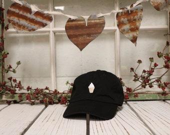 VANILLA ICE CREAM Baseball Hat Low Profile Embroidered Baseball Caps Dad Hats Black