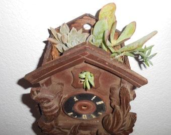 Vintage Coo Coo Clock Planter