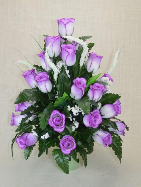 No R103 Lavender Rose Cemetery Flower Spring Cone Flower