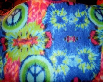 Hot Pink Peace Signs Throw Blanket - #326