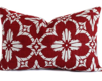 Outdoor pillow cover, 12x18, Red outdoor pillow, Outdoor throw pillow, Decorative pillow, Accent pillow, Outdoor cushion, Lumbar pillow