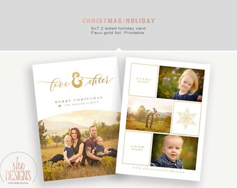 Christmas Card - Holiday Photo Card - Printable - Christmas Picture card - 5x7 greeting card