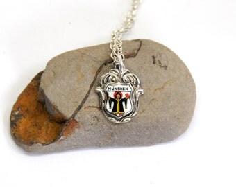 munich necklace, munchen necklace, german necklace,  vintage necklace,
