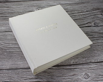 Personalised Ivory Linen Photo Album - 5 Sizes Available