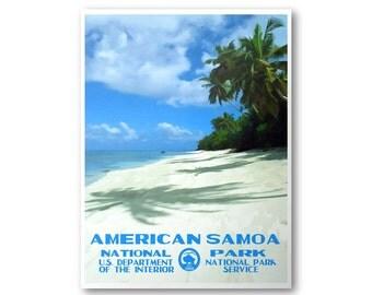 American Samoa National Park Travel Poster