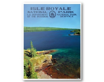 Isle Royale National Park Travel Poster