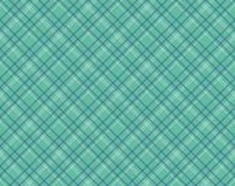Sale! Calico Days Plaid Mint Yardage by Lori Holt