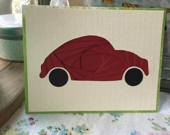 Volkswagen Bug Iris Folding Card