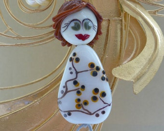 Doll Poulline - focal lampwork beads