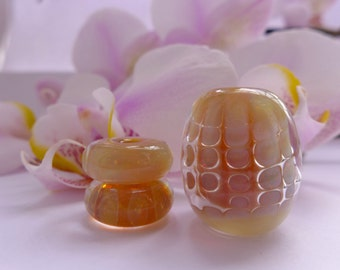 Lampwork beads from borosilicate glass - Sun