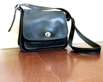 Vintage Coach Bag - Navy Blue - Shoulder Bag - 1990's