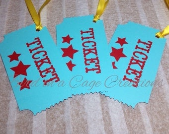 Circus Party Gift Tags