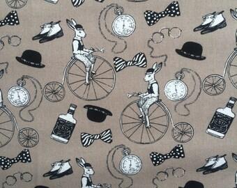 Steampunk/Alice in wonderland Cotton Fabric