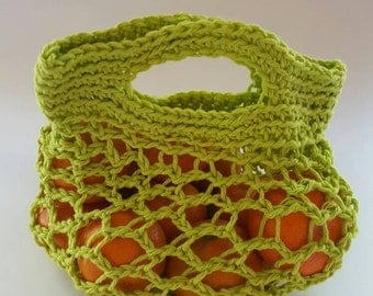 Crocheted Produce Bag- Lime Green size small