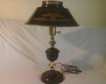 vintage mid century toleware table lamp