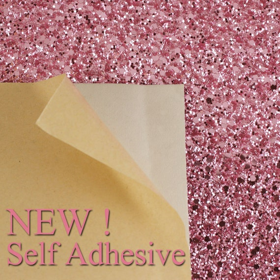 Self adhesive glitter fabric sheet rose pink a4 sheet for Rose adesive