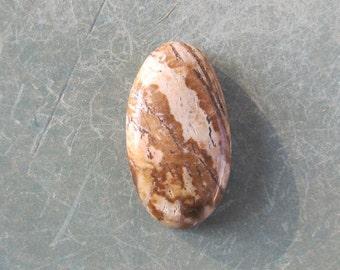 28x15x6mm out back jasper beige brown oval cabochon