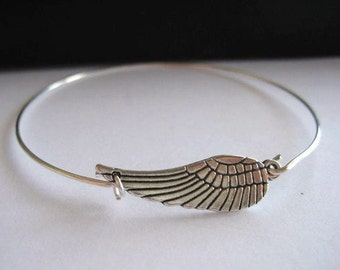 Angel Wing Bracelet, miscarriage, miscarriage bracelet, angel wing bangle, baby loss, child loss, baby loss jewelry, handmade, mothers day