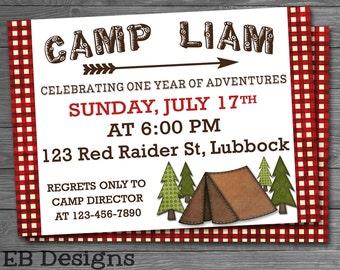 Camping Invitation