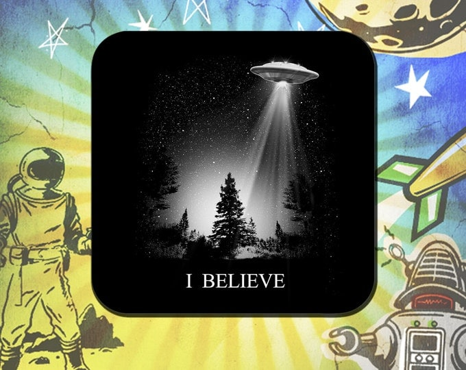 I Believe X-Files UFO Coaster Set