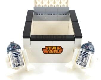 Handmade Novelty Star Wars R2-D2 Cufflinks with Lego Bricks Box