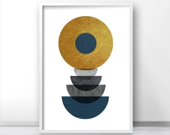 Mid Century Modern, Art Print, Geometric Art Print, Poster Art, Scandinavian Art Geometric Print, Abstract Art Print *31*