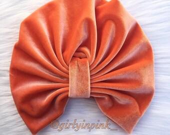 Orange Velvet Turban