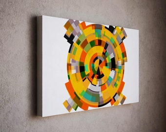 Simple and clean modern art canvas print with clear colors - abstract art print