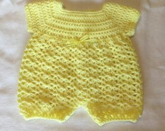 Crochet Baby Girl Romper