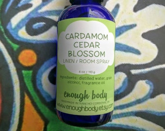 Cardamom Cedar Blossom Linen and Room Spray ~ Room Mist ~ Air Freshener ~ Fragrance Mist