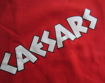 Vintage 80s 90s Caesar's Palace Casino Crewneck Sweatshirt Red Las Vegas