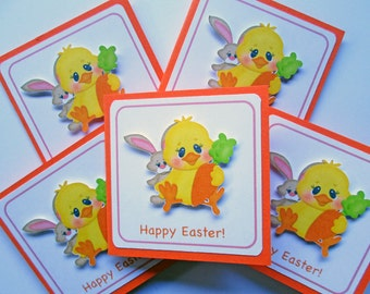 Happy Easter Cards, Easter Mini Cards, Easter Gift Tags, Easter Favor Tags, Easter Hang Tags