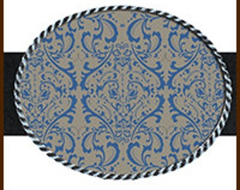 Damask Blue and Grey