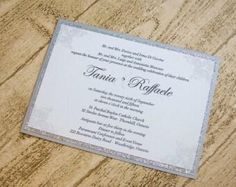 Snowdrift - silver wedding invitation