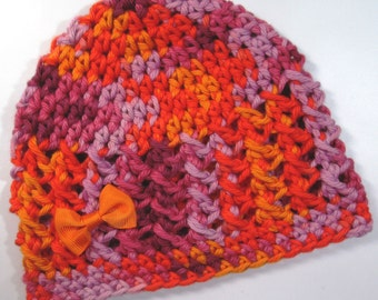 Ready to Ship Crochet Baby Hat, Baby Girl Hat, Baby Girl Beanie, Baby Newborn Hat, Newborn Baby Hat, Baby Girl, Sizes Newborn - 12 months