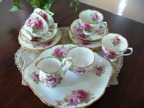 Royal Albert Tea Set American Beauty Pattern