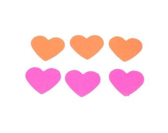 Confetti, red heart confetti, pink heart confetti, heart confetti, red confetti, wedding confetti, party decor, confetti