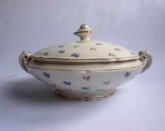 vintage french limoges porcelain lidded serving dish
