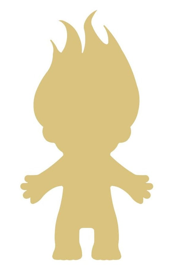 Troll Style 1 Unfinished MDF Wood Cutout Variety of Sizes USA