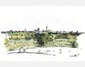 London from Primrose Hill - A2 limited edition signed giclée print by James Oses