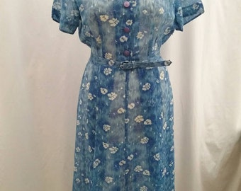 1950's sheer summer dress