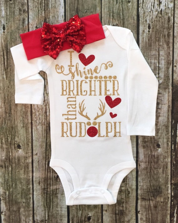 christmas bodysuit rudolph the reindeer bodysuit baby girl. Black Bedroom Furniture Sets. Home Design Ideas