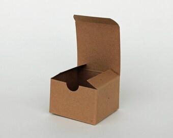 10 3x3x2 box, set of 10, kraft gift box, 3x3x2 favor box, natural kraft box, wedding favor box, bridal/wedding shower box, packaging supples