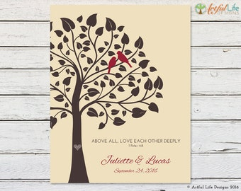 WEDDING GIFT for COUPLE, Wedding Family Tree, Family Tree for Couple, Personalized Wedding Gift, Love Birds Family Tree, Wedding Present