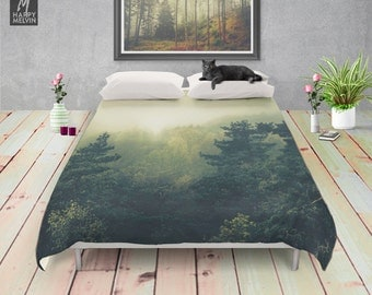 Forests never sleep - Duvet cover - Bedding - Bohemian - Forest - Home decor - Wanderlust - Nature decor - Home - Bedroom - Dorm decor.