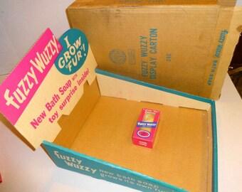 1960s Fuzzy Wuzzy Soap Store Display Box & Soap