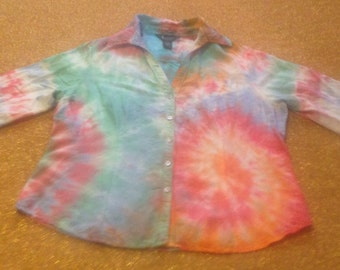 Unique tie dye linen related items Etsy