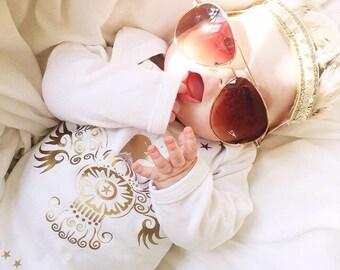 Elvis Cotton Sleep Suit, Long Sleeve Sleepsuit, Costume Long Sleeve With The King On the Back