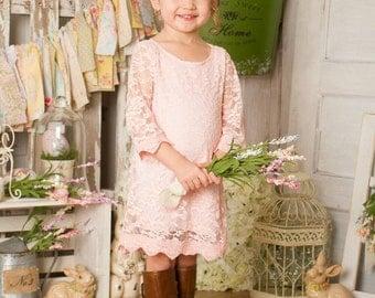 Girls dress. Toddler lace dress. Birthday dress. Girls Vintage lace dress.  Flower girl dress